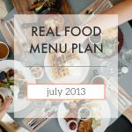 Menu Plan // July 2013