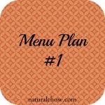 Menu Plan #1