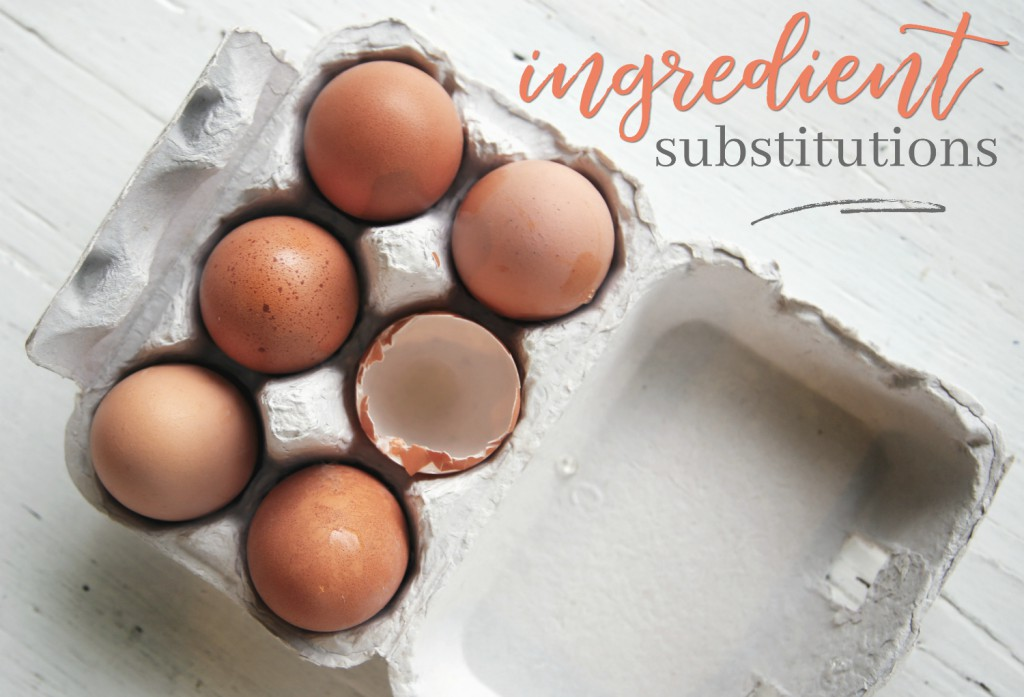 Ingredient Substitutions for any recipe!