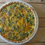 Easy Cheesy Spinach Quiche