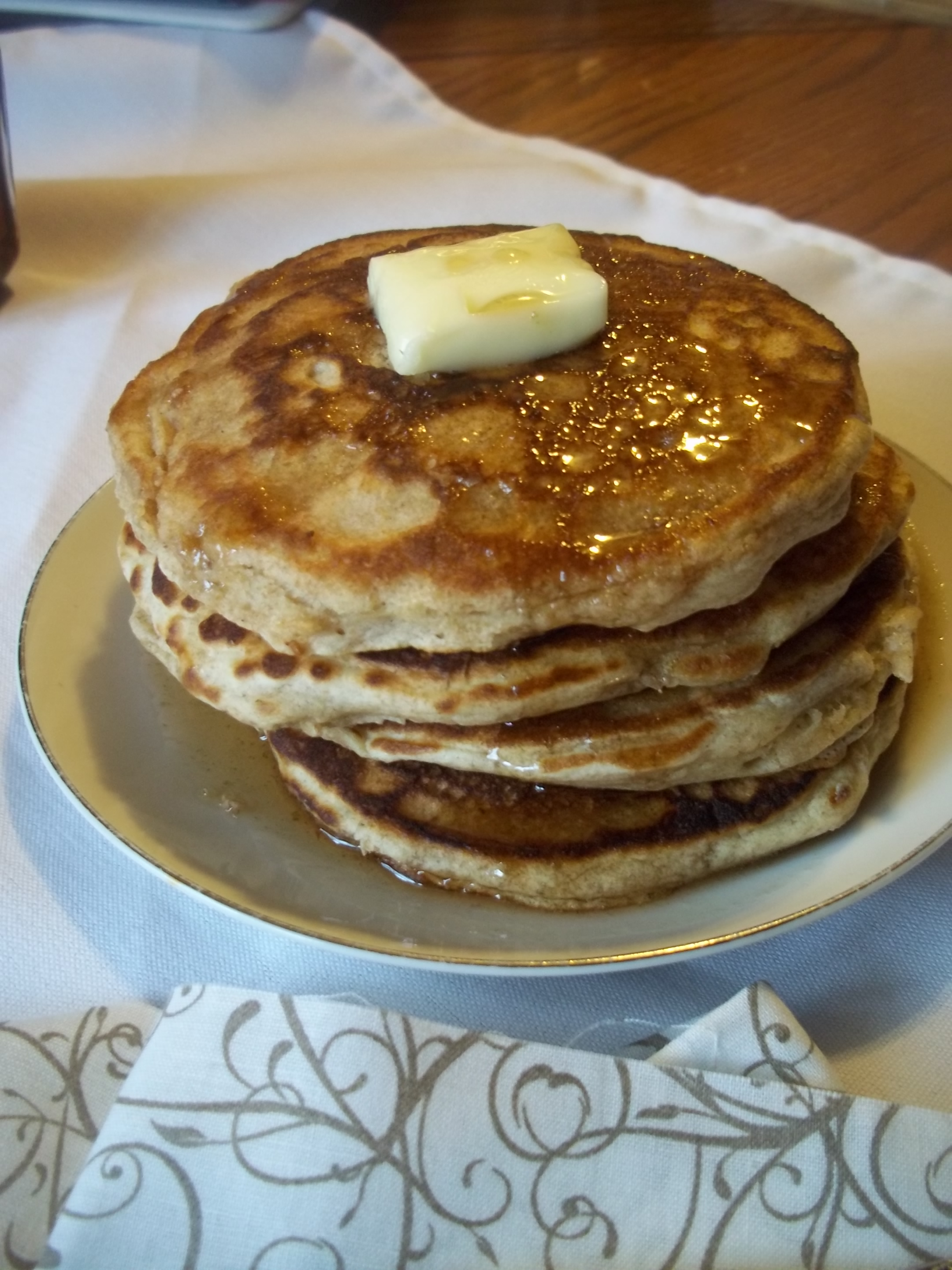 Light, Fluffy Whole Wheat Pancakes