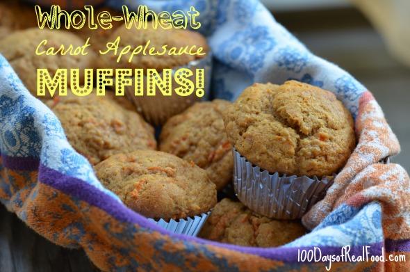 Carrot-Applesauce-Muffins