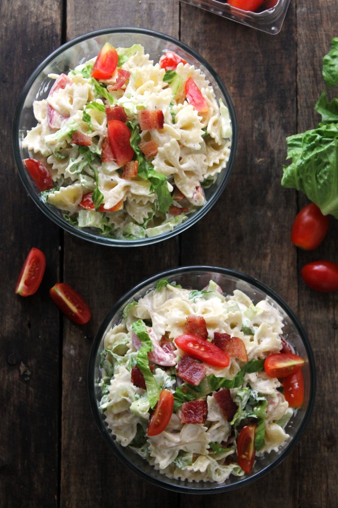 Light and creamy BLT pasta salad, ready in 30 minutes! Made with simple, fresh ingredients, every bite is packed with summery flavor.