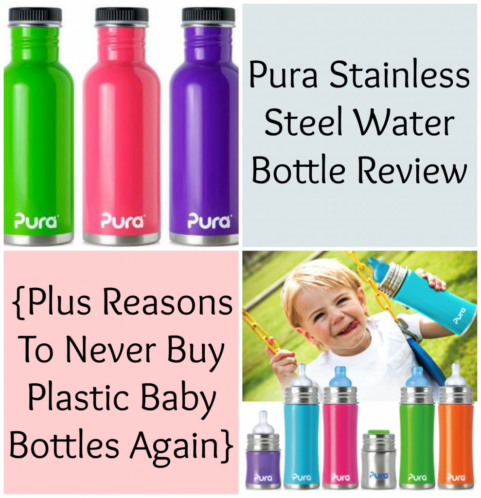 Pura Stainless Steel Water Bottle Review   Natural Chow