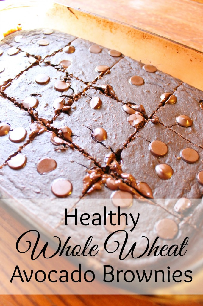 Healthy Whole Wheat Avocado Brownies | Natural Chow