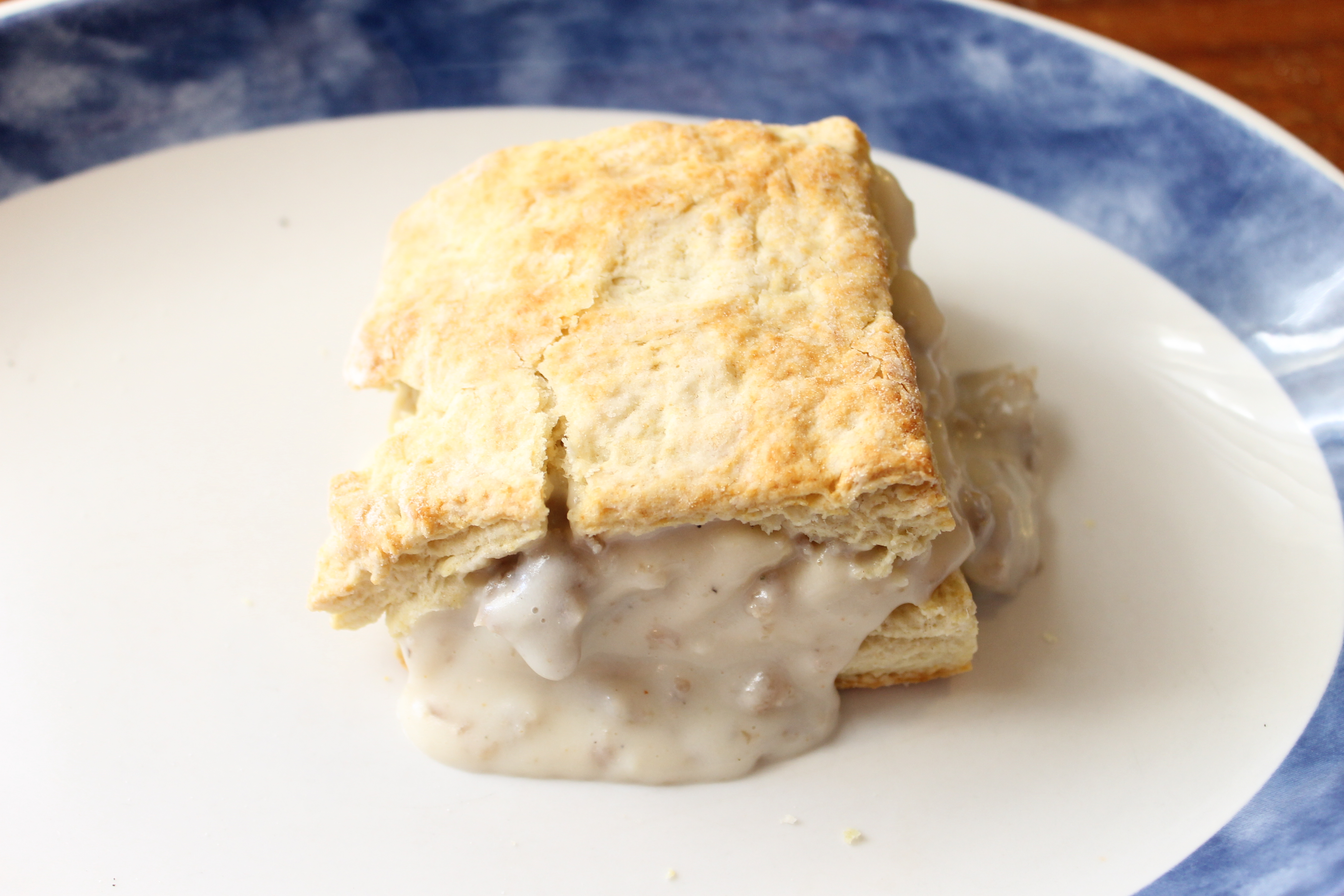Buttermilk Biscuits and Sausage Gravy | Natural Chow