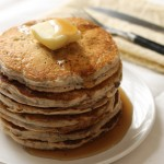 Whole Wheat Vegan Chia Seed Pancakes