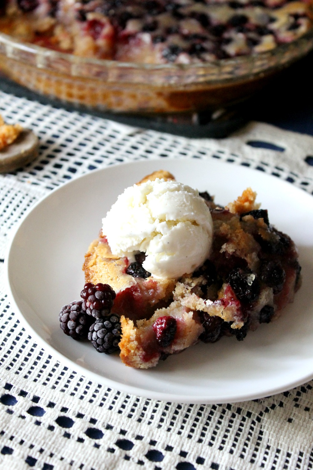 Perfect Whole Wheat Blackberry Cobbler | Natural Chow