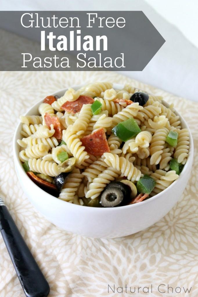 Gluten Free Italian Pasta Salad | Natural Chow | http://naturalchow.com