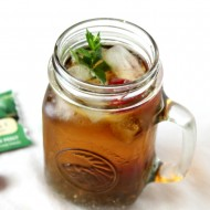 Iced Mint-Raspberry Tea with Chia Seeds