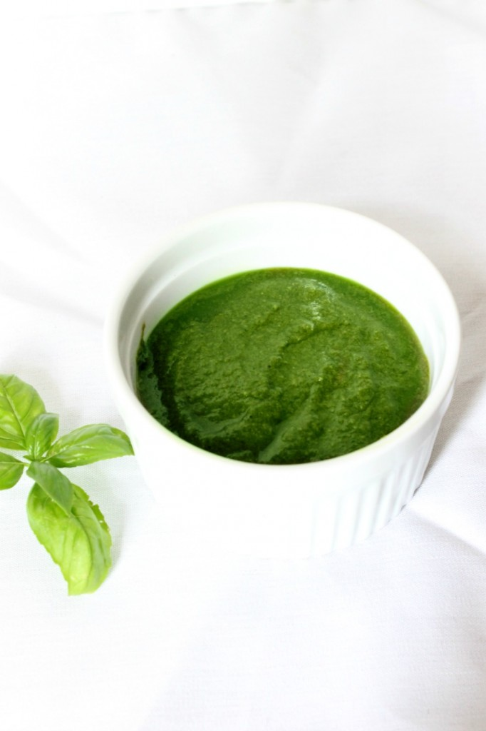 Basil Pesto {Without Nuts} | Natural Chow | http://naturalchow.com