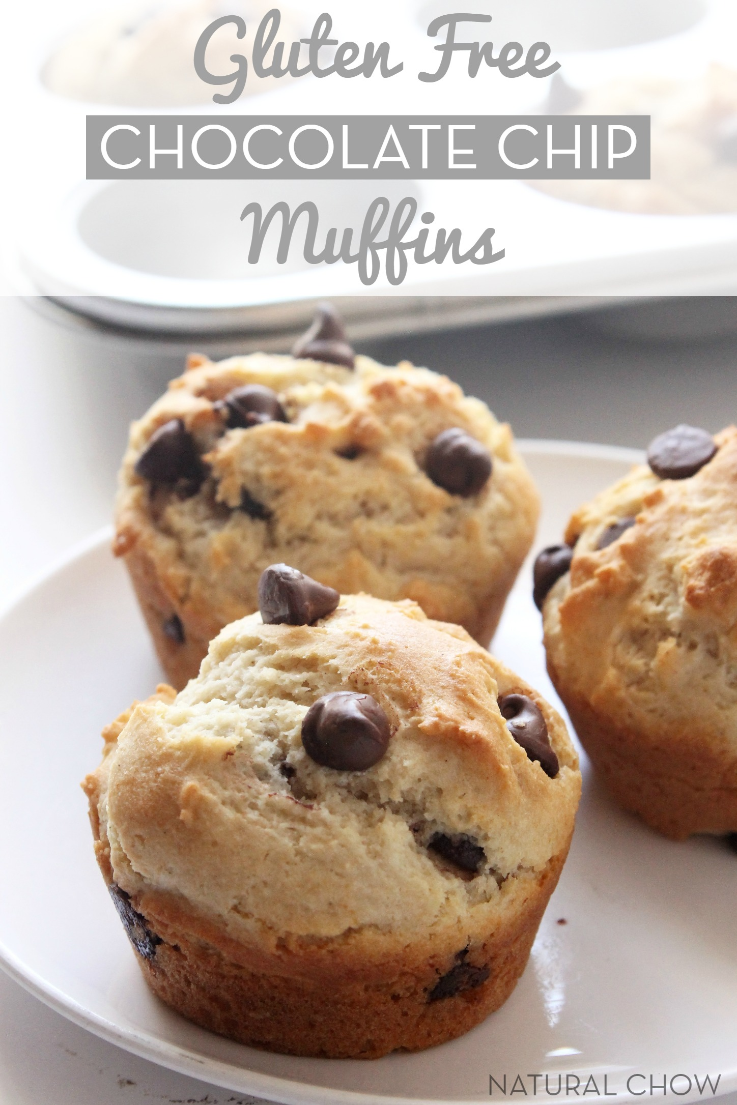 Gluten Free Chocolate Chip Muffins // The best gluten free muffins you will ever eat!