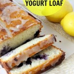 Lemon Blueberry Yogurt Loaf {At The Humbled Homemaker}
