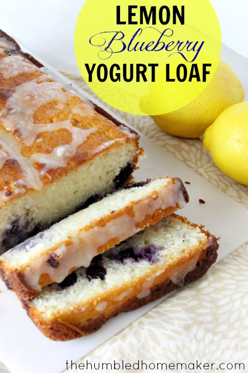 Lemon Blueberry Yogurt Loaf | Natural Chow | http://naturalchow.com