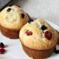 Healthy Blueberry Cranberry Muffins