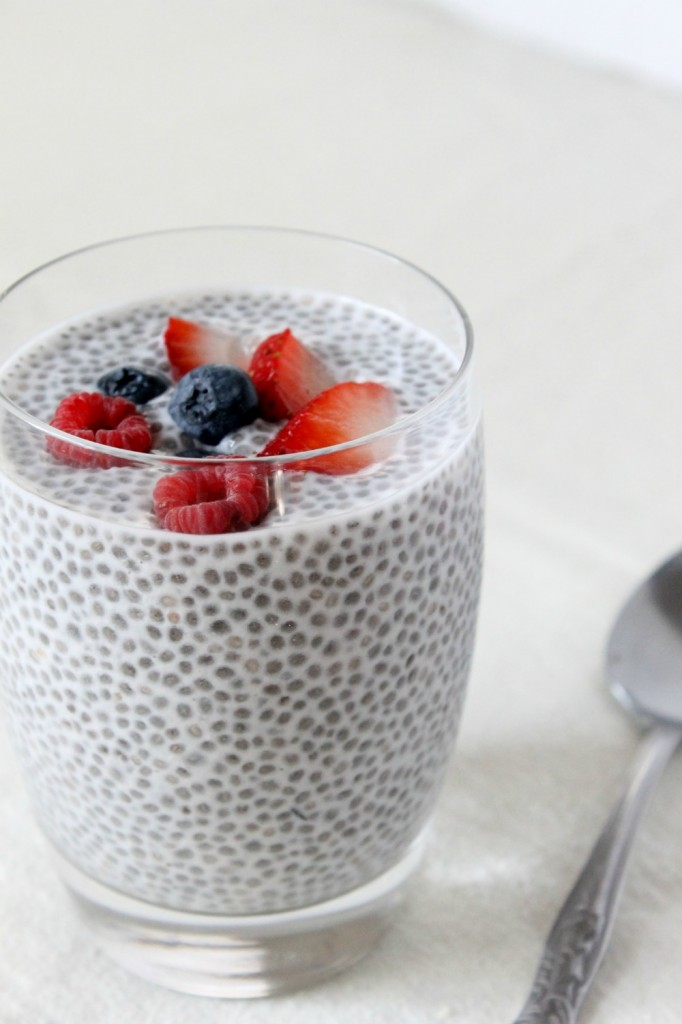 Vegan Triple Berry Chia Seed Pudding | Natural Chow | http://naturalchow.com