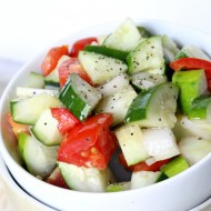 Cucumber Salad with Vinaigrette Dressing