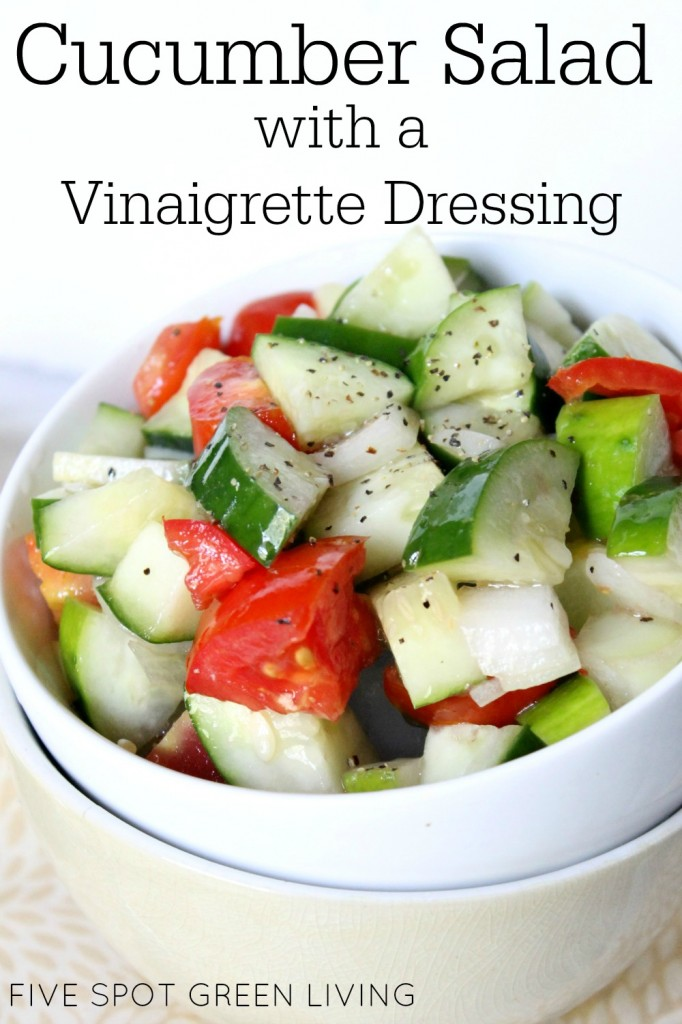 Cucumber Salad with Vinaigrette Dressing | Five Spot Green Living