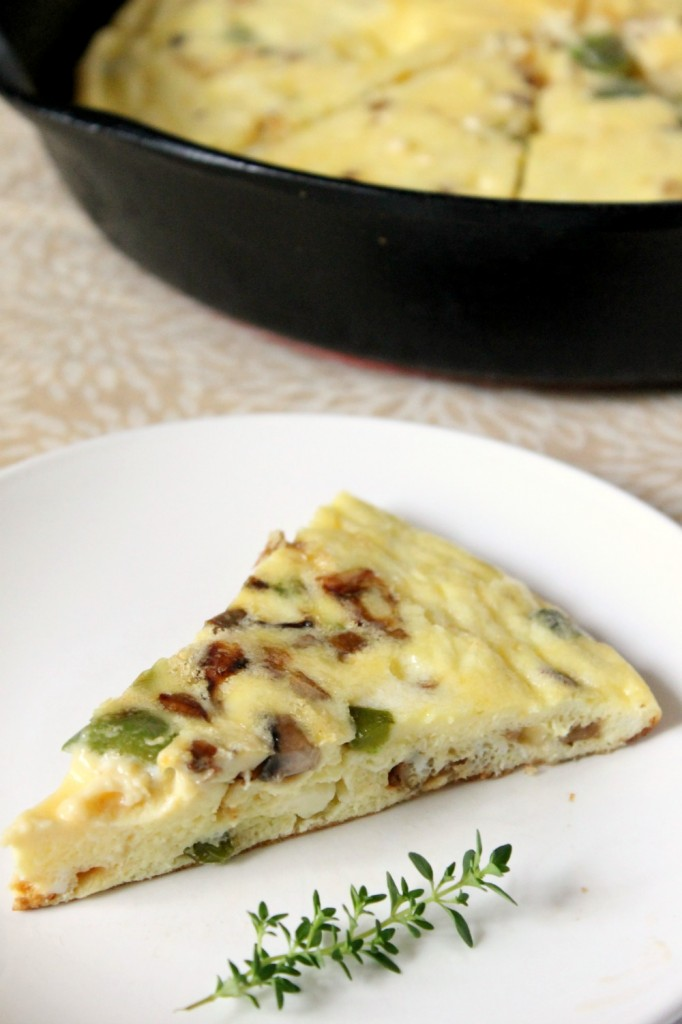 Mushroom, Goat Cheese and Herb Frittata | Natural Chow | http://naturalchow.com