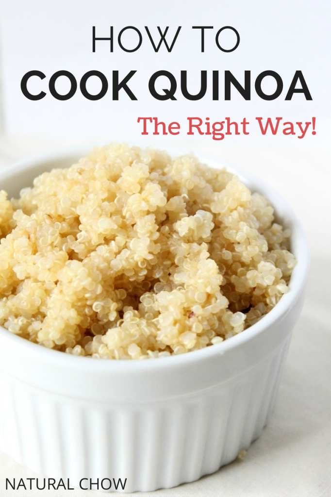 Really I have NO idea how to cook quinoa. Great tutorial from Natural Chow