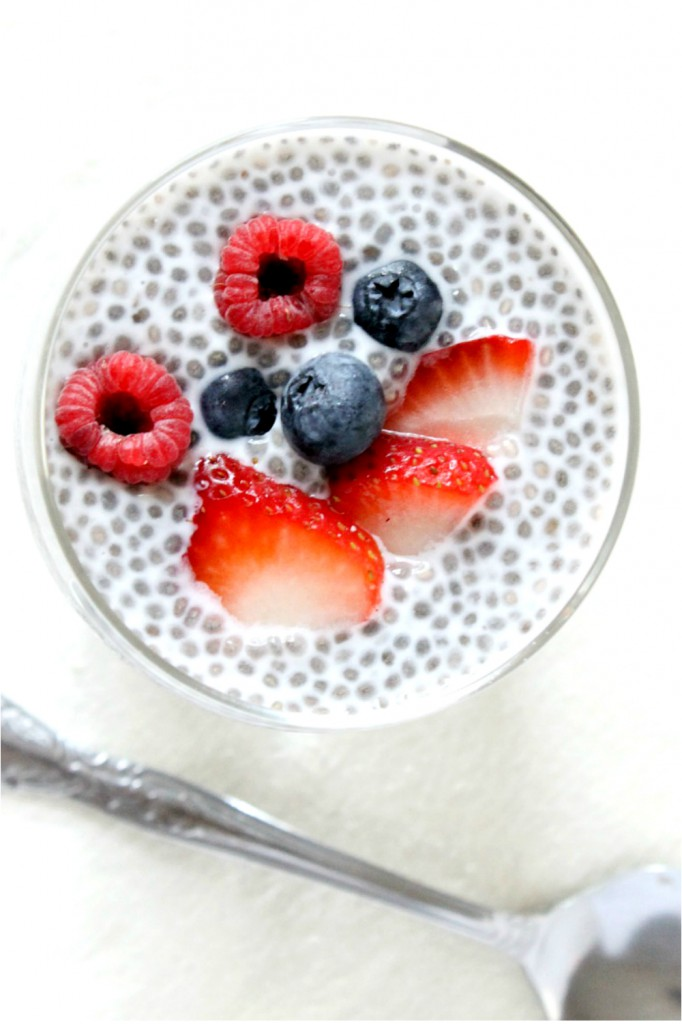 A quick, easy, low-mess breakfast, making it perfect for school mornings. This vegan triple berry chia seed pudding is easily adaptable and only takes a couple of minutes to make!