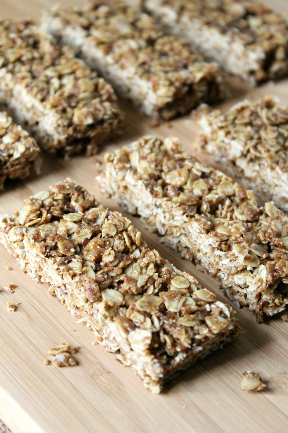 Maple Peanut Butter Granola Bars | Natural Chow