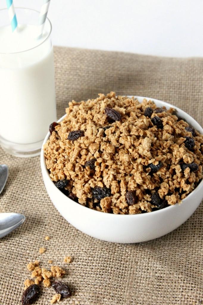Cinnamon Raisin Peanut Butter Granola Cereal | Natural Chow