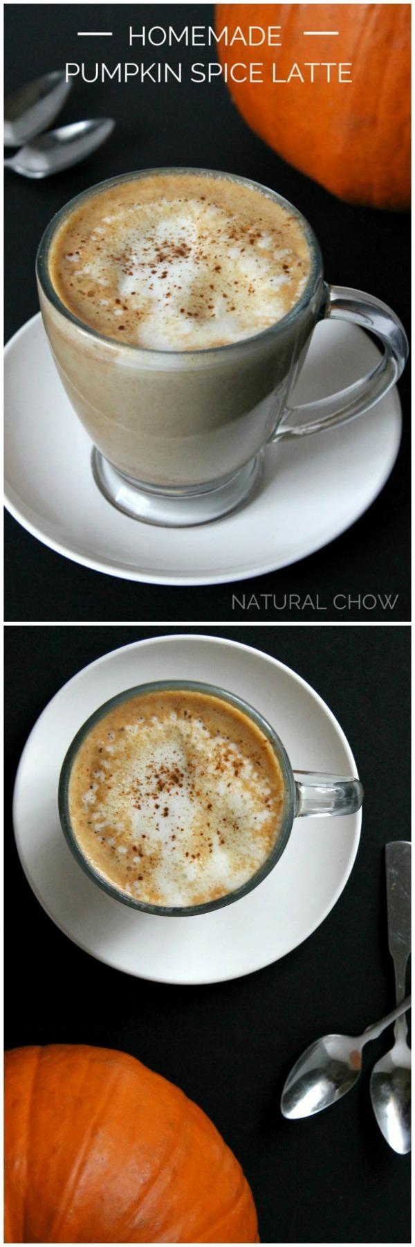 Homemade Pumpkin Spice Latte | Natural Chow | http://naturalchow.com