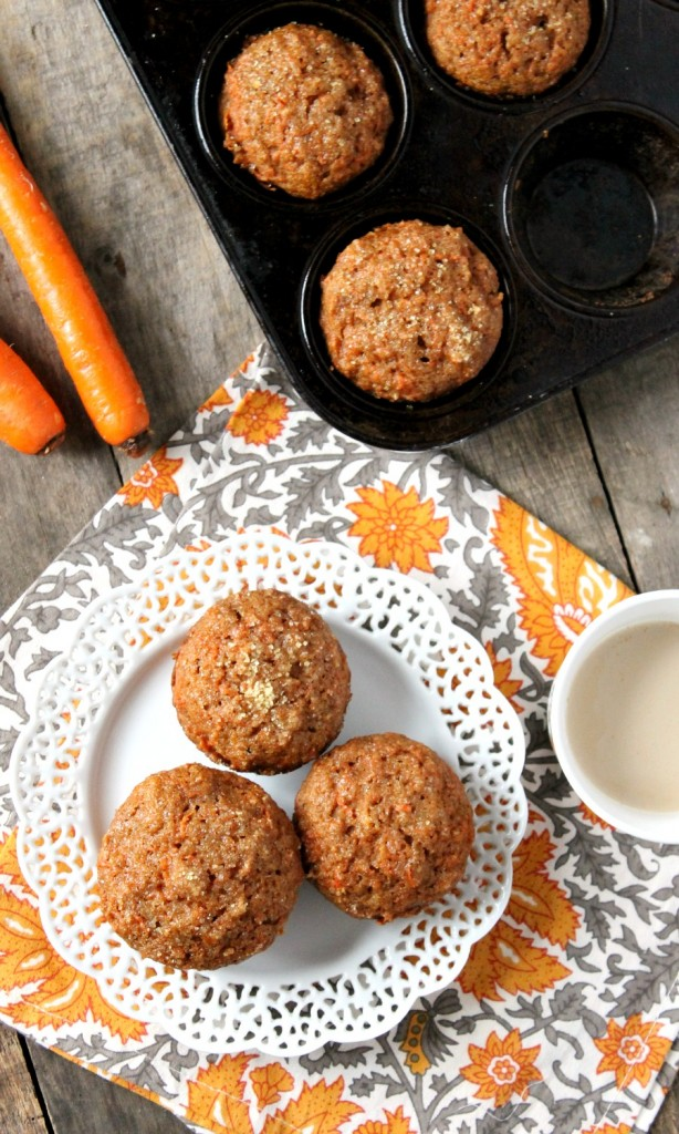 Whole Wheat Carrot Muffins | Natural Chow | http://naturalchow.com