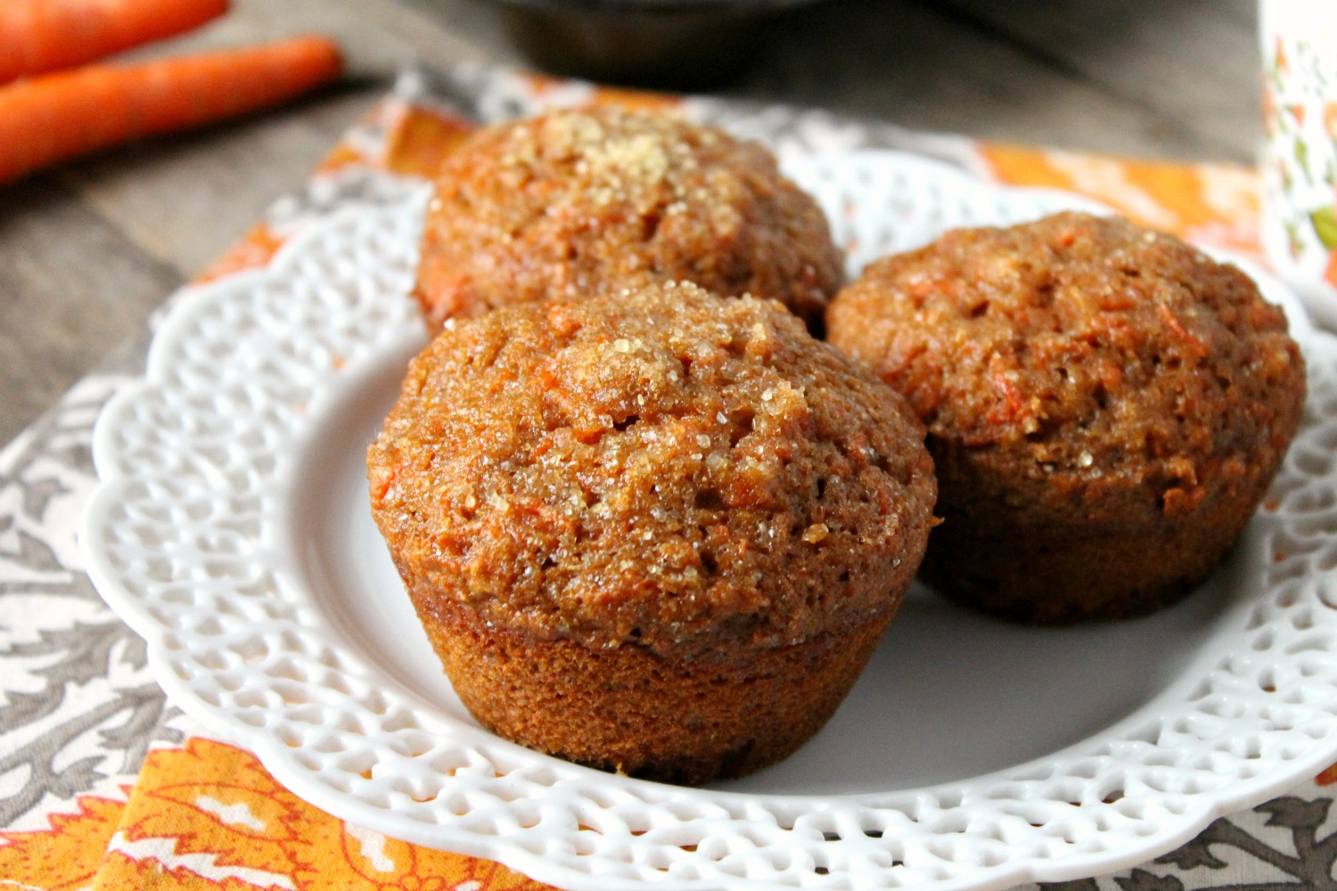 Whole Wheat Carrot Muffins | Natural Chow