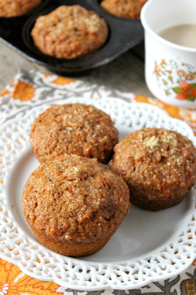 whole wheat carrot muffins 4