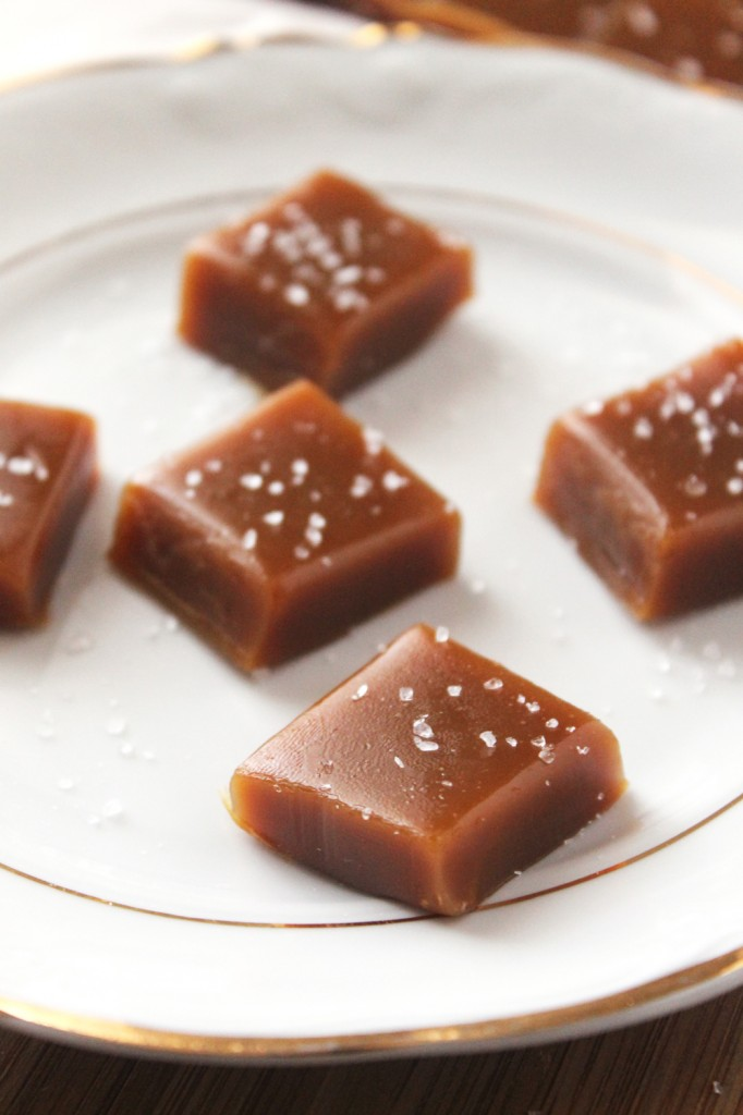 These homemade salted honey caramels are melt-in-your-mouth luscious, chewy, and heavenly. They make great gifts and are WAY healthier than the storebought kind.