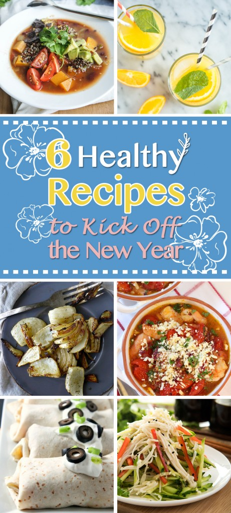 6 Healthy Recipes to Kick Off the New Year | Natural Chow via @margaretdarazs http://naturalchow.com #healthy #newyear #loseweight
