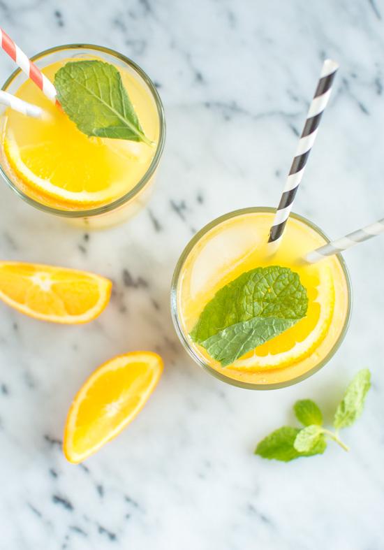 Orange Mint Coconut Water | Healthy Nibbles & Bits