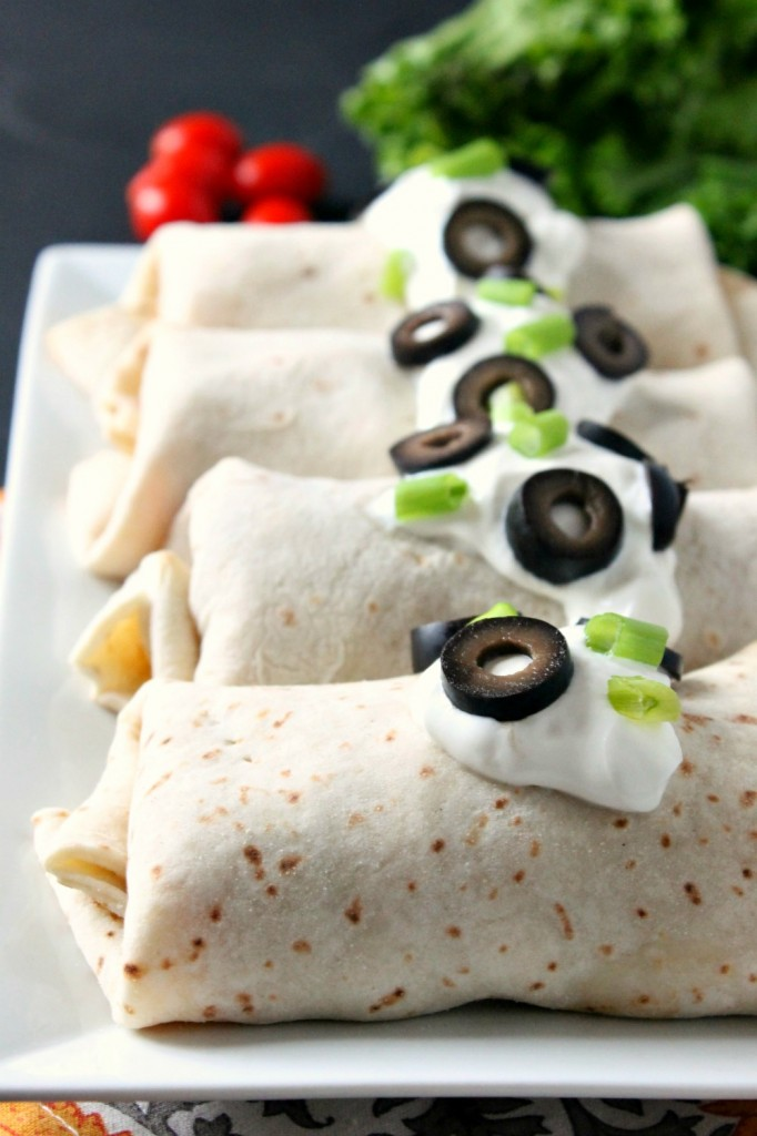 Easy Baked Chicken Chimichangas | Natural Chow #healthy
