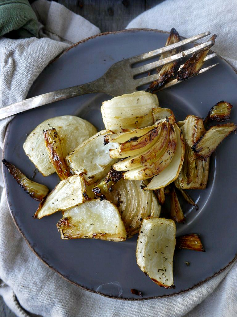 Balsamic and Thyme Roasted Fennel | Healthy Recipe Ecstasy