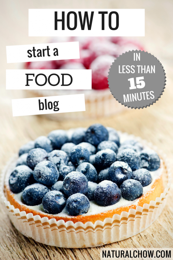 How to Start a Food Blog in Less Than 15 Minutes! | Natural Chow #blogging #food #tutorial  http://naturalchow.com
