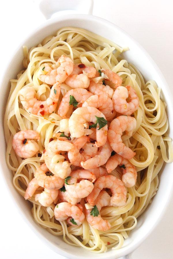 15-Minute Shrimp Scampi | Natural Chow | http://naturalchow.com