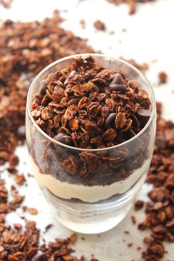 Skinny Dark Chocolate Chia Granola Recipe from Natural Chow