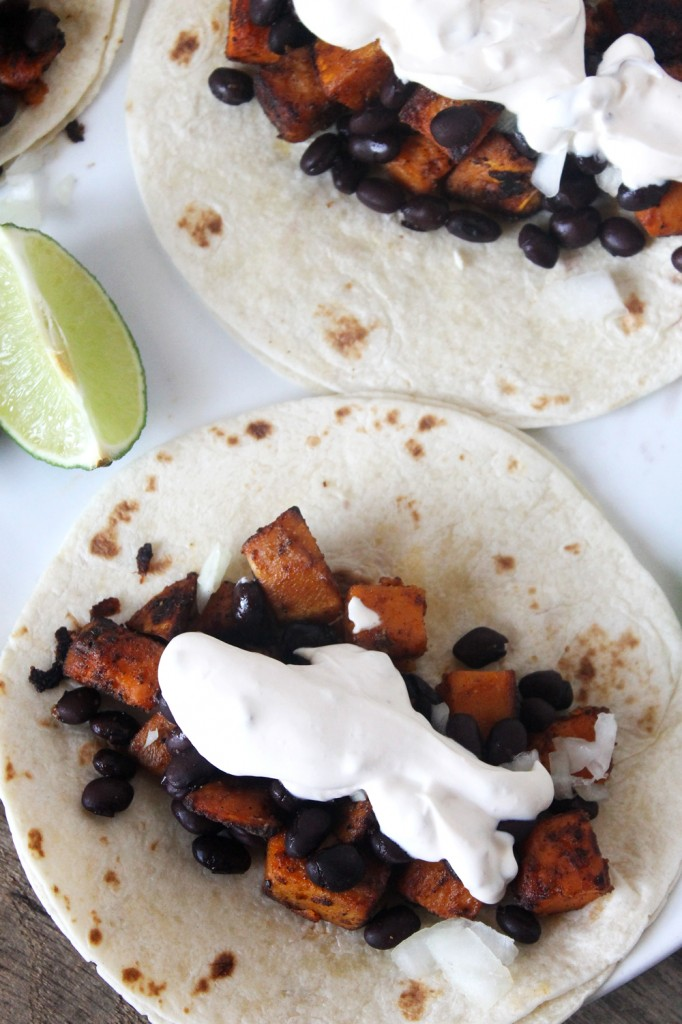 Chipotle Sweet Potato Black Bean Tacos // Natural Chow