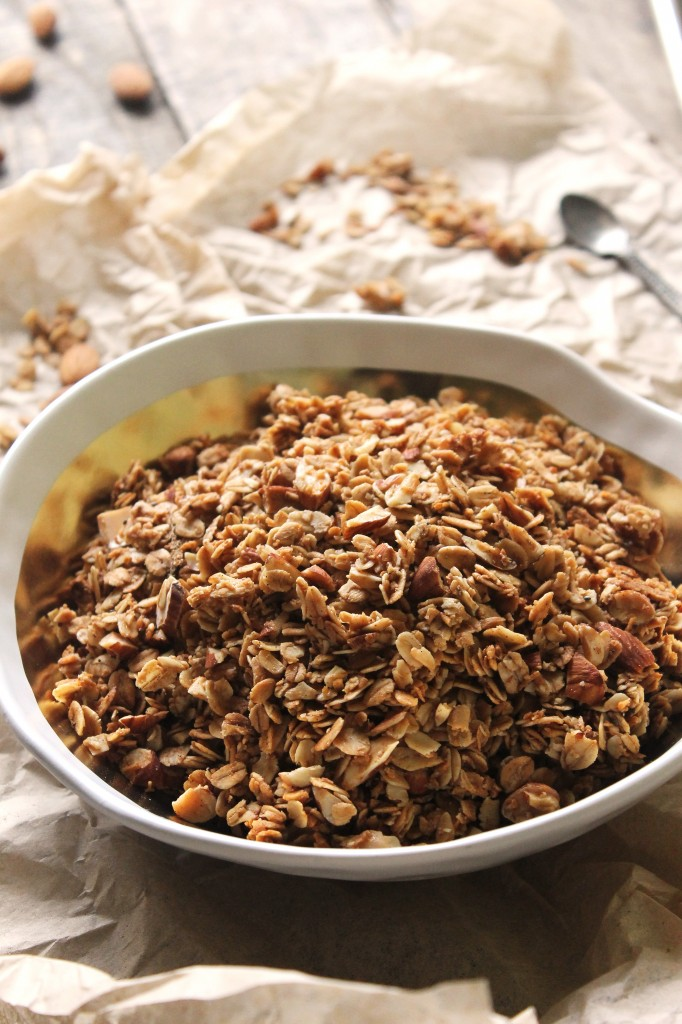 Cardamom Almond Coconut Granola Cereal // Crunchy, sweet, and bursting ...