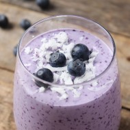 Blueberry Coconut Protein Smoothie
