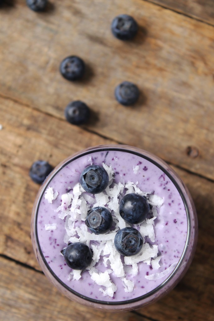 This blueberry coconut protein smoothie is so rich and creamy you'd think it was a milkshake! Made with only 5 simple ingredients, this refreshing and healthy smoothie is guilt-free and tastes amazing!