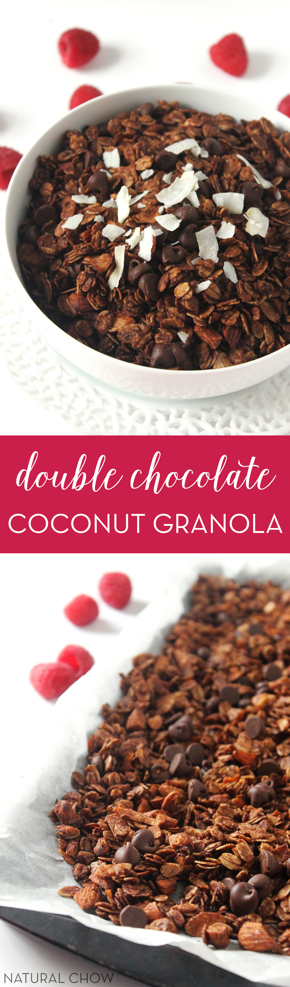Double Chocolate Coconut Granola | Natural Chow