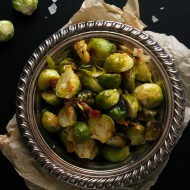 Roasted Bacon Parmesan Brussels Sprouts #DArtagnanFeast {+ A Giveaway}