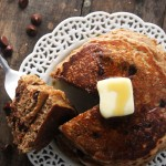 Whole Wheat Oatmeal Chocolate Chip Protein Pancakes