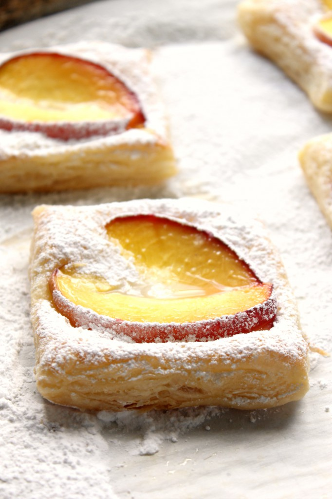 These Peaches and Cream Pastries are a beautiful treat with the perfect balance of tart and sweet flavor.