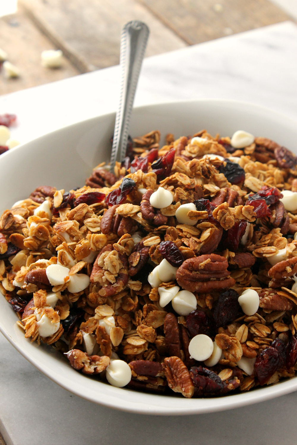 White Chocolate Cranberry Pecan Granola Cereal Natural Chow