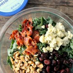 Blue Cheese Bacon Kale Salad